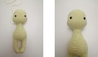 Crochet Giraffe Rufus Amigurumi Free Pattern body