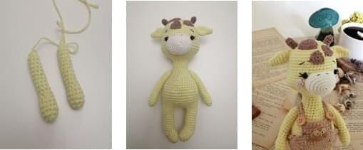 Crochet Giraffe Rufus Amigurumi Free Pattern full arms