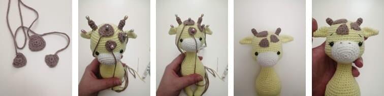 Crochet Giraffe Rufus Amigurumi Free Pattern spots