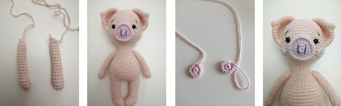 Crochet Pig Pixie Amigurumi Free Pattern