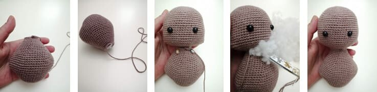 Crochet Teddy Bear Bubsy Amigurumi Pattern body
