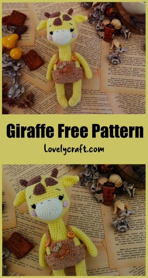 Giraffe Rufus lovely doll Amigurumi free crochet pattern