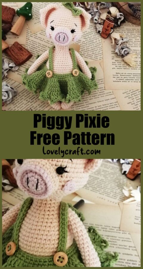 Piggy Pixie Doll Amigurumi Free Crochet Pattern