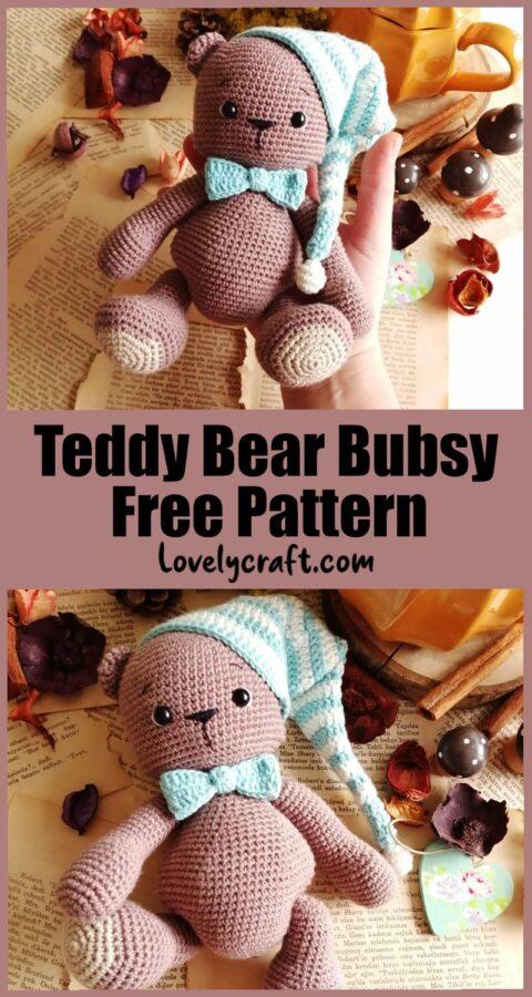 Teddy Bear Bubsy doll free amigurumi crochet pattern