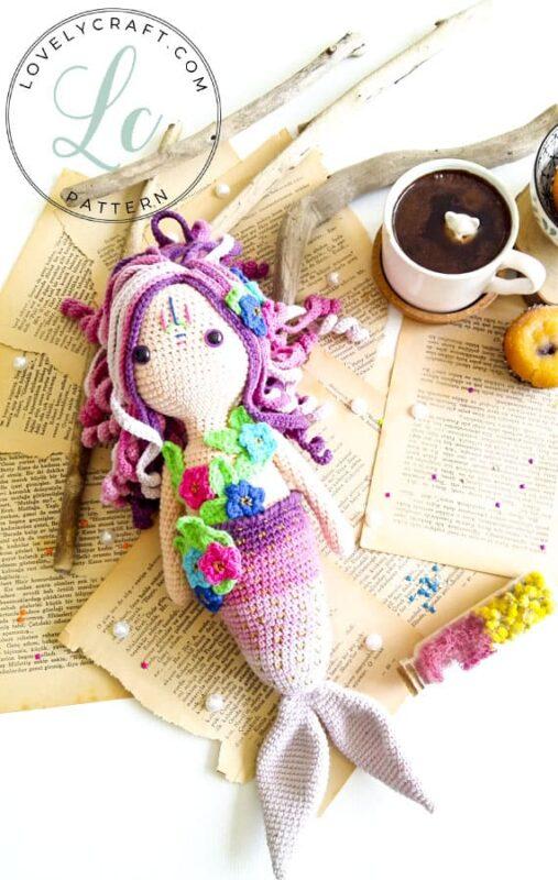 Mermaid Calypso Amigurumi free crochet pattern