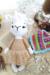 Llama Patmos amigurumi with dress without shawl