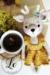 Crochet Deer Amigurumi free pattern with flower