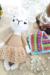 Llama Patmos amigurumi with lace dress crochet pattern