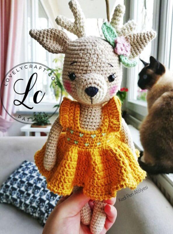 Cute lovelycraft deer amigurumi free crochet pattern