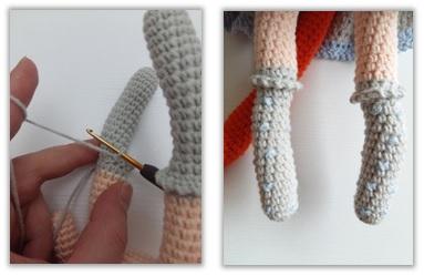Crochet Cat Girl Doll Amigurumi Free Pattern legs2