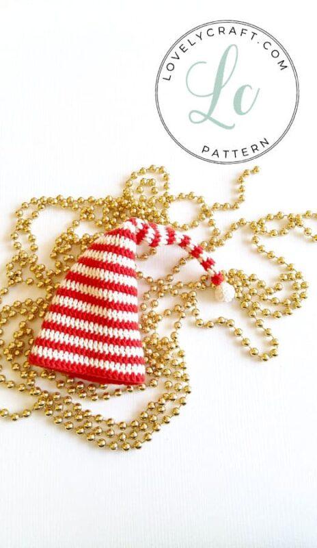Elf Berry Amigurumi Christmas hat crochet pattern