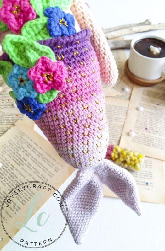 Mermaid Calypso amigurumi fishtail