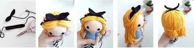 Crochet Alice in Wonderland Amigurumi Free Pattern
