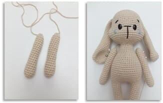 Crochet Bumble Bunny Amigurumi Free Pattern arms