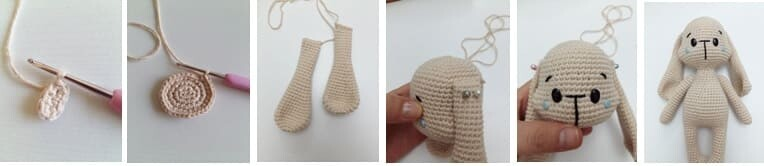 Crochet Bumble Bunny Amigurumi Free Pattern ears