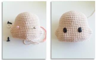 Crochet Bumble Bunny Amigurumi Free Pattern head