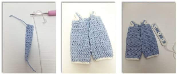 Crochet Bumble Bunny Amigurumi Free Pattern jumpsuit