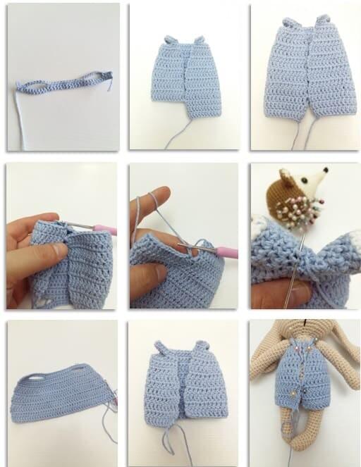 Crochet Bumble Bunny Amigurumi Free Pattern pants