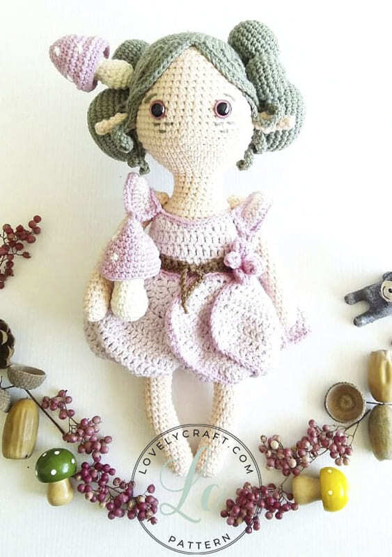 Crochet Forest Fairy Doll Amigurumi Free Pattern (1)