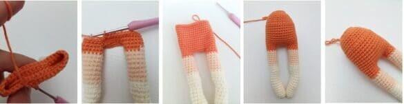 Crochet Fox Girl Doll Amigurumi Free Pattern body