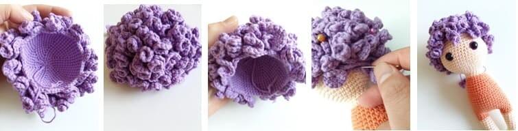 Crochet Fox Girl Doll Amigurumi Free Pattern hair