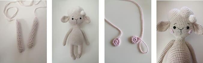 Crochet Lamb Muffin Amigurumi Free Pattern arms