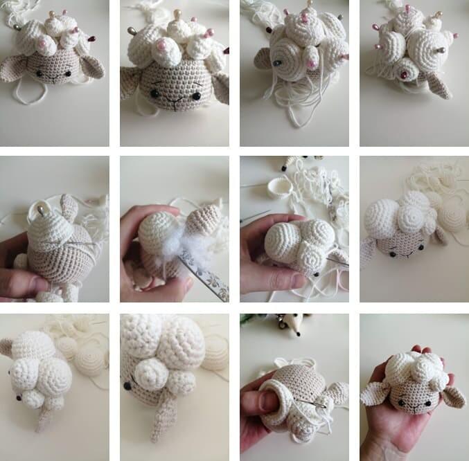 Crochet Lamb Muffin Amigurumi Free Pattern bubble