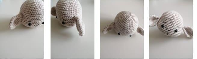 Crochet Lamb Muffin Amigurumi Free Pattern ears
