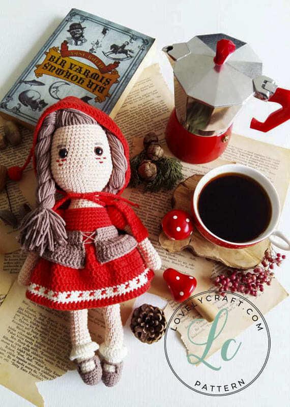 Crochet Little Red Riding Hood Amigurumi Free Pattern (2)