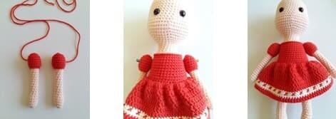 Crochet Little Red Riding Hood Amigurumi Free Pattern arms