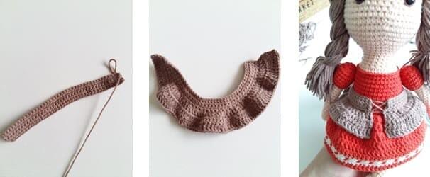 Crochet Little Red Riding Hood Amigurumi Free Pattern belt