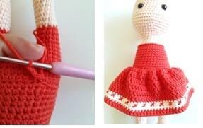 Crochet Little Red Riding Hood Amigurumi Free Pattern skirt