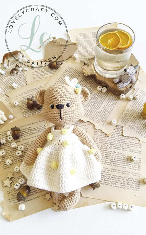 Crochet Mrs. Cookie Teddy Bear Amigurumi Free Pattern (1)