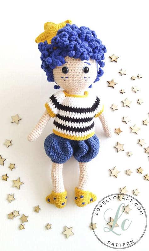 Crochet Night Boy Amigurumi Doll Free Pattern (2)