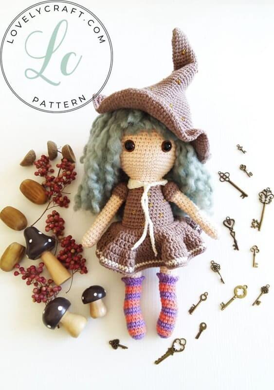 Crochet Sabrina The Witch Amigurumi Free Pattern (3)