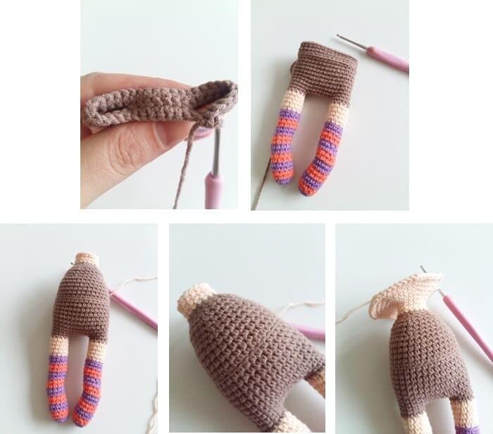 Crochet Sabrina The Witch Amigurumi Free Pattern body