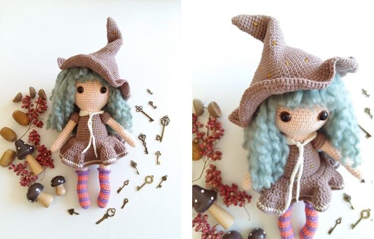 Crochet Sabrina The Witch Amigurumi Free Pattern collar