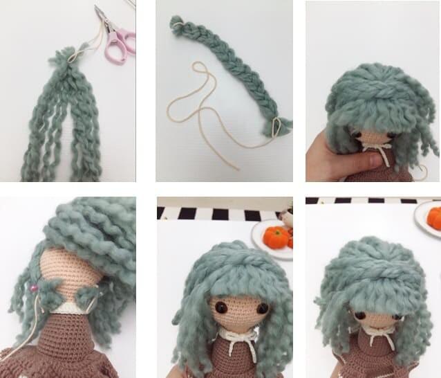 Crochet Sabrina The Witch Amigurumi Free Pattern hair braid