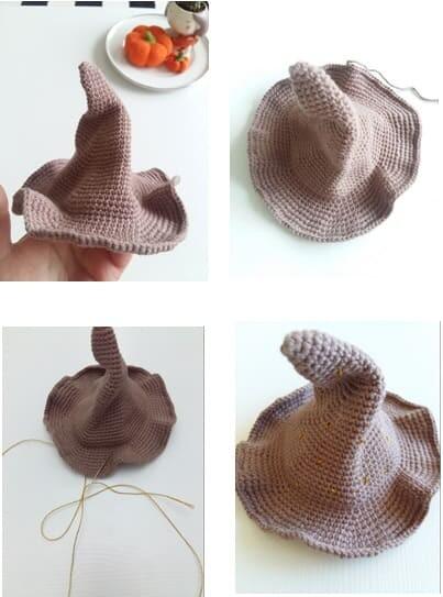 Crochet Sabrina The Witch Amigurumi Free Pattern hat