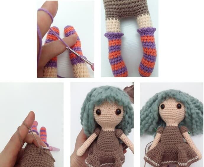 Crochet Sabrina The Witch Amigurumi Free Pattern skirt