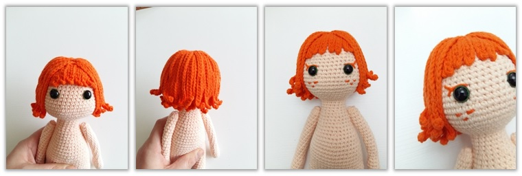 Crochet Cat Girl Doll Amigurumi Free Pattern hair4
