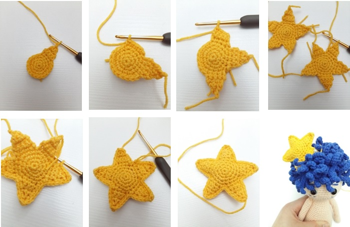 STAR (in yellow color and make 2)