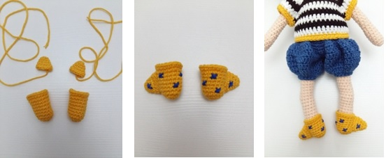 BOOTIES ACCESSORİES (make 2 in yellow color)
