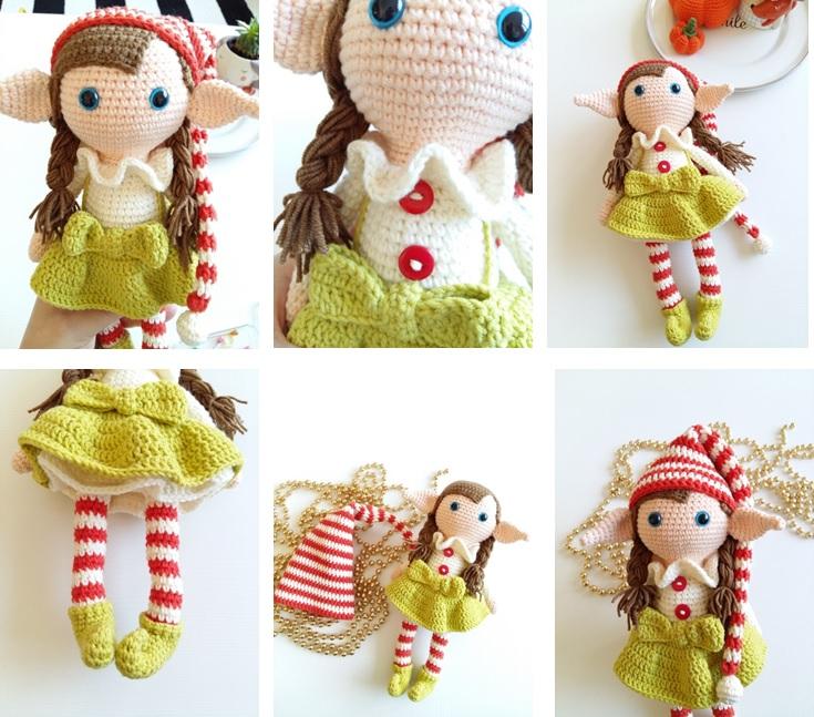 Elfy berry christmas crochet free pattern