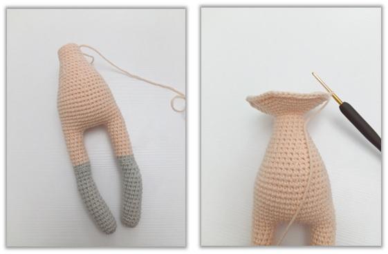 Crochet Cat Girl Doll Amigurumi Free Pattern body
