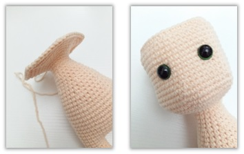 Crochet Cat Girl Doll Amigurumi Free Pattern head