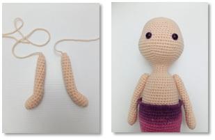 Calypso Mermaid Amigurumi Crochet Free Pattern arms