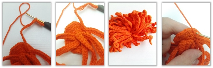 Crochet Cat Girl Doll Amigurumi Free Pattern hair