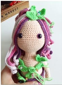 Calypso Mermaid Amigurumi Crochet Free Pattern flowers 2