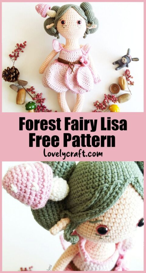 Forest Fairy Lisa doll Amigurumi free crochet pattern